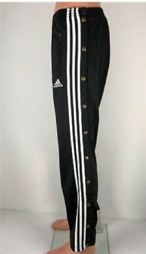 adidas 100G BasketBall Pant Trousers Track Pants Poppers Classic Very Rare Med